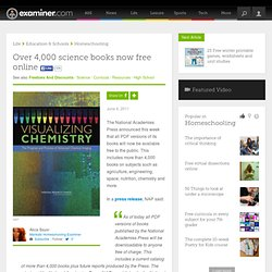 Over 4,000 science books now free online - Mankato Homeschooling