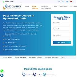 Best Data Science Training in Hyderabad