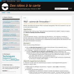 TRIZ - science de l'innovation !