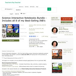 Science Interactive Notebooks Bundle -... by Kesler Science