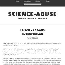 La science dans Interstellar - Science-Abuse