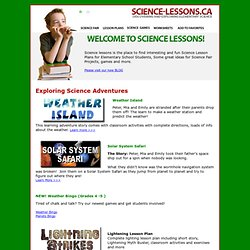 Science Lesson Plans, Science Ideas, & Science Activities