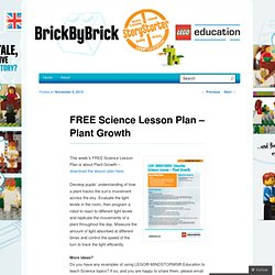 FREE Science Lesson Plan – Plant Growth