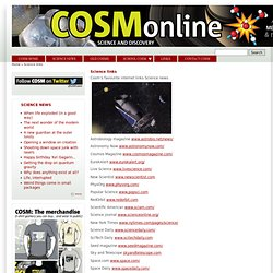 Science links | CosmOnline