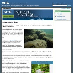 EPA Science Matters August/September 2012: Into the Dead Zone