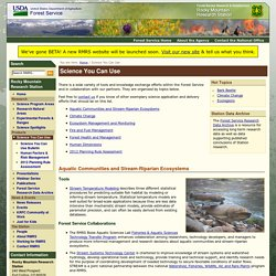 Science You Can Use - Rocky Mountain Research Station - RMRS - US Forest Service