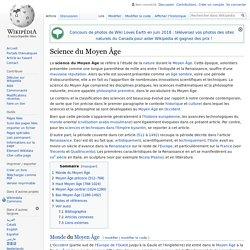 Science du Moyen Âge