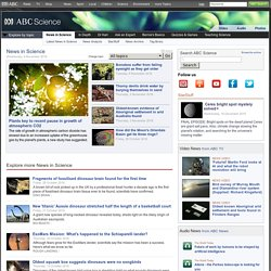 Science News from the ABC