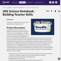 UDL Science Notebook: Building Teacher Skills