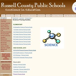 Science Pacing Guides - Russell County Public Schools