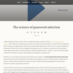 Troy Hunt: The science of password selection