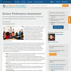 Science Performance Assessment
