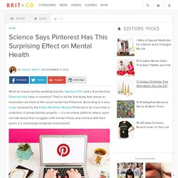 Science Says Pinterest Has This Surprising Effect on Mental Health