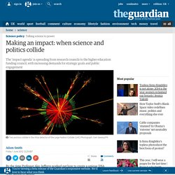 Making an impact: when science and politics collide | Adam Smith | Talking science to power | Science