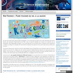 Kidi'Science : Faire pousser du sel à la maison