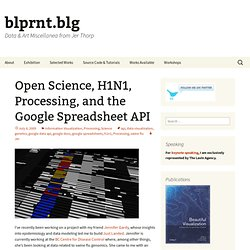 Open Science, H1N1, Processing, and the Google Spreadsheet API