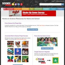 Science Fair Project Ideas, Answers, & Tools