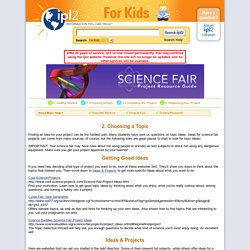 Science Fair Project Resource Guide