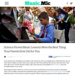 Science Proves Music Lessons Were the Best Thing Your Parents Ever Did for You