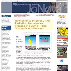 New Science 9: Error 3: All Radiation Imbalances Treated the Same — The Ground is not the sky!