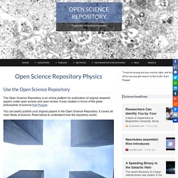 Open Science Repository Physics