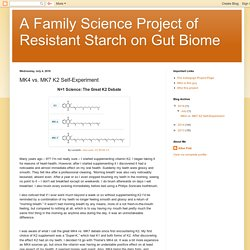 A Family Science Project of Resistant Starch on Gut Biome: MK4 vs. MK7 K2 Self-Experiment