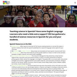 Science Resources in Spanish – Community Resources for Science