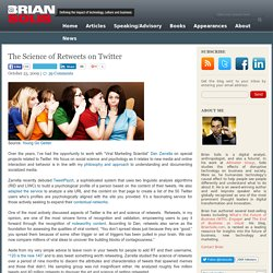 The Science of Retweets on Twitter | Brian Solis - PR 2.0