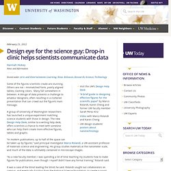 Design eye for the science guy: Drop-in clinic helps scientists communicate data — University of Washington - washington.edu