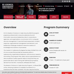 Master of Science in Cyber Security