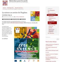 La science au service de l'hygiène version 09.11 - Biotechno pour les profs