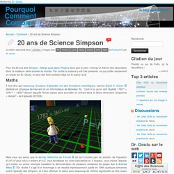 20 ans de Science Simpson « Dr. Goulu