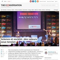 Science et société : des valeurs sous tension