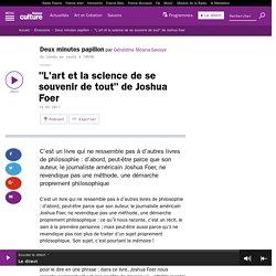 """""""L'art et la science de se souvenir de tout"""" de Joshua Foer"""