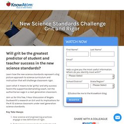 New Science Standards Challenge Grit and Rigor
