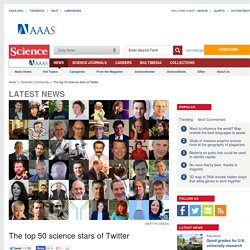 The top 50 science stars of Twitter
