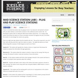 Mad Science Station Labs – Plug and Play Science Stations