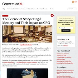 The Science of Storytelling & Memory and Their Impact on CRO