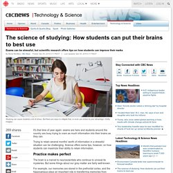 The science of studying: How students can put their brains to best use