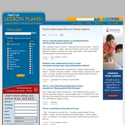 Fourth Grade Lesson Plans for Science Subjects (4th Grade)