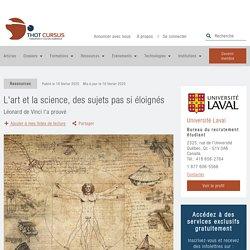 L'art et la science, des sujets pas si éloignés - Thot Cursus