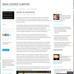 Science in superheroes « Basal Science Clarified