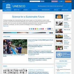 Science for a Sustainable Future