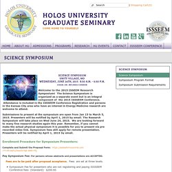 Science Symposium - Holos University