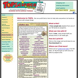 TOPS Science: Teach Science With Simple Things