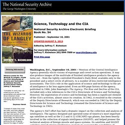 Science, Technology and the CIA