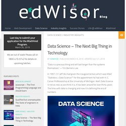 Data Science - The Next Big Thing in Technology