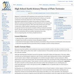 High School Earth Science/Theory of Plate Tectonics