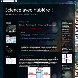 Science avec Hubière !: Chimie - Terminale S - Dosage par étalonnage