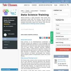 Data Science Online Training Course